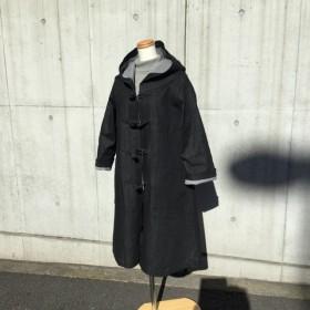 黒色デニムのダッフルコート(再販)