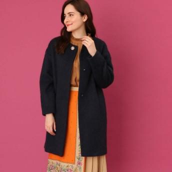 クチュール ブローチ Couture brooch 【WEB限定サイズ(LL)あり】メランジシャギーコート (ネイビー)