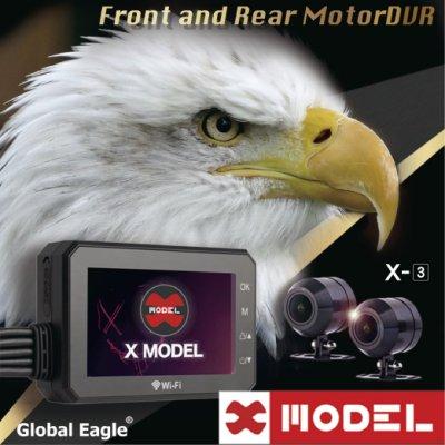 送32G卡【 響尾蛇X3 X-MODEL 】機車用行車記錄器/紀錄器/前後1080P/WIFI/防水防塵/156度廣角