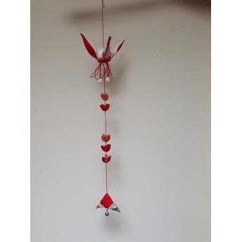 鶴のお祝い飾り 正月飾り ちりめん