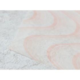 不織布 波模様 オレンジ 包装紙 3m