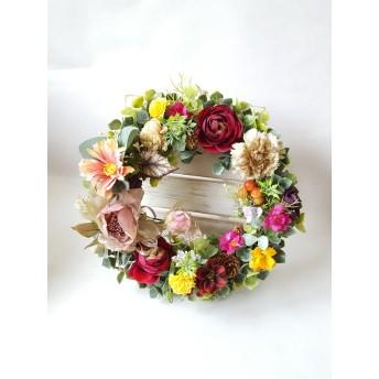~Flowerリース~*pink・~*Mサイズ(25㎝) 敬老の日・プレゼント