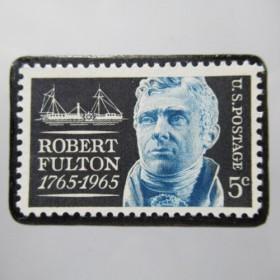 アメリカ 切手ブローチ5476