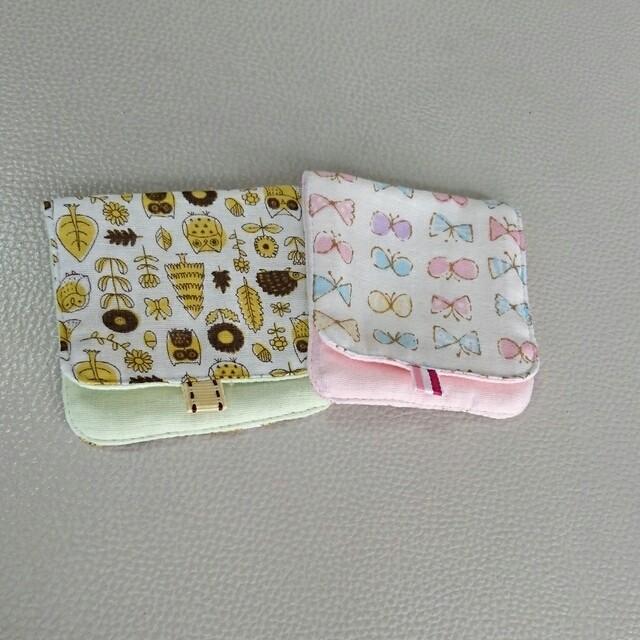 小さなおてて 二つ折りガーゼハンカチ小 2枚セット