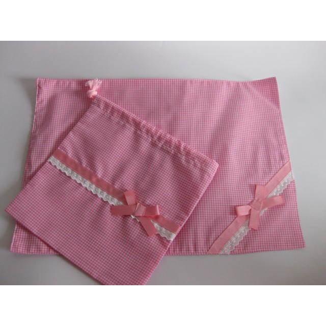 ランチョンマット+巾着セット ピンクコードレーン