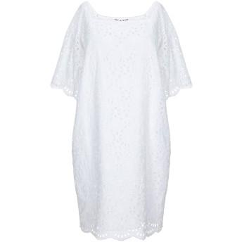 《セール開催中》ERMANNO DI ERMANNO SCERVINO レディース ミニワンピース&ドレス ホワイト 40 コットン 100%