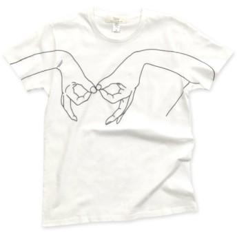 手を大きくプリントしたTシャツ : TS-608