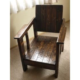 木製ソファ☆大型木製椅子☆木製手作り椅子☆ハンドメイドチェア