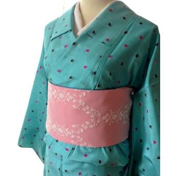 刺繍チュールレース半幅帯ピンク・紫(ロングサイズ)