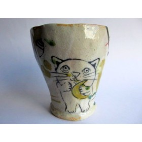 佐藤大士 フリーカップ*猫とお月さま