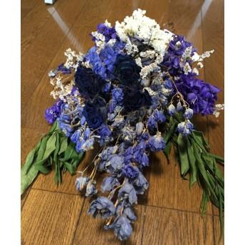お花屋さんが作ったナチュラルドライスワッグ N0. 紫の上