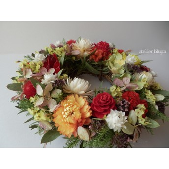 atelier blugra八ヶ岳〜(定形外郵便発送)春色小花のMiniWreath06