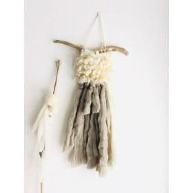 受注製作三種類の羊毛のhanging