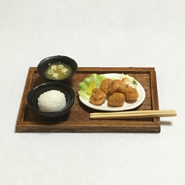『人気メニュー!』●唐揚げ定食●ミニチュアフード