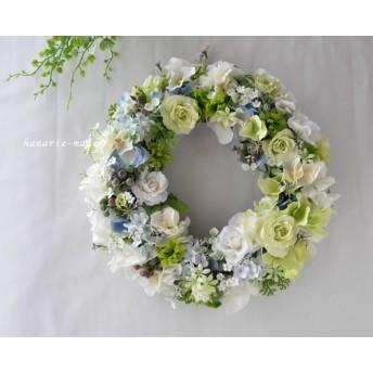 emerald wreath:ローズと紫陽花