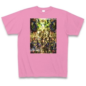 有効的異常症候群風雷◆アート文字◆ロゴ◆ヘビーウェイト◆半袖◆Tシャツ◆ピンク◆各サイズ選択可