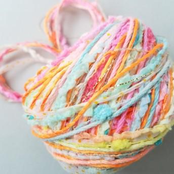 A393「手染めキャンディキャンディ(10)」素材糸 引き揃え糸