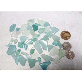 シーグラス薄い水色、薄い緑色 ワケあり80g