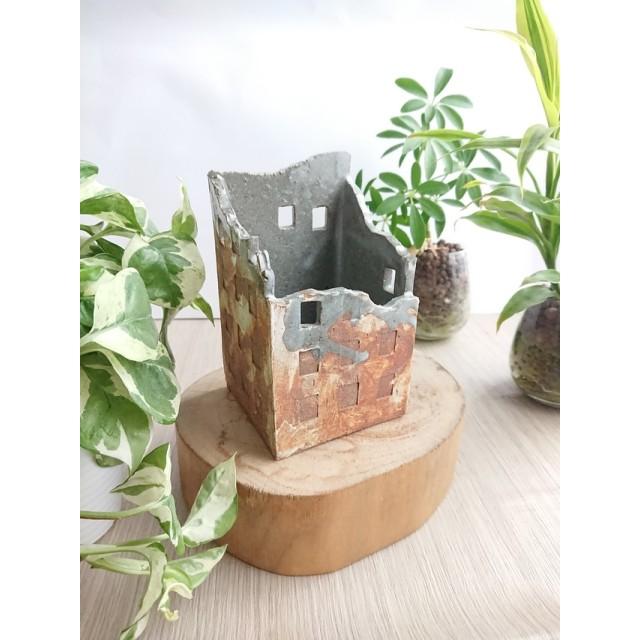縦ビルブラウン *植木鉢、キャンドルホルダー