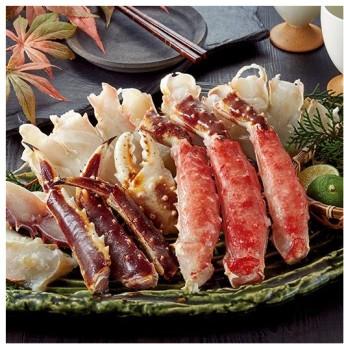 お歳暮 御歳暮 カニ かに 蟹 ギフト プレゼント ベルーナ 簡単便利 生本タラバガニ ハーフカット 1kg