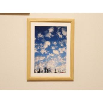 モコモコ雲 ️A4写真(額入り)