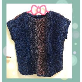 手編み ニット ベスト
