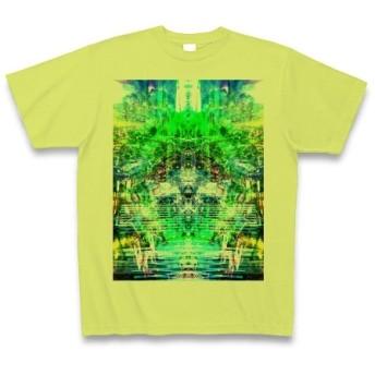 シンジダイ◆アート文字◆ロゴ◆ヘビーウェイト◆半袖◆Tシャツ◆ライトグリーン◆各サイズ選択可