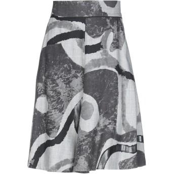 《セール開催中》PIAZZA SEMPIONE レディース ひざ丈スカート 鉛色 38 ウール 100%