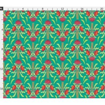 輸入生地 オーストラリアのお花 ワラタ カーミンレッド 赤いお花 ハンドメイド素材 生地