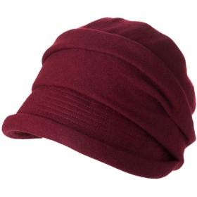防寒 帽子 キャスケット レディース マリン キャップ 婦人帽子 秋冬用 小顔 大きいサイズ おしゃれ かわいい 女 自転車 ワイン