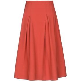 《セール開催中》BALLANTYNE レディース 7分丈スカート 赤茶色 42 ポリエステル 52% / バージンウール 43% / ポリウレタン 5%