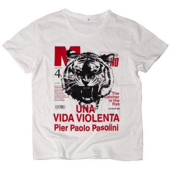 雑誌 Tcollector おもしろデザインTシャツ 暴力的な生活Tシャツ