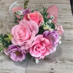 ブライダル用 リストブーケ ピンク