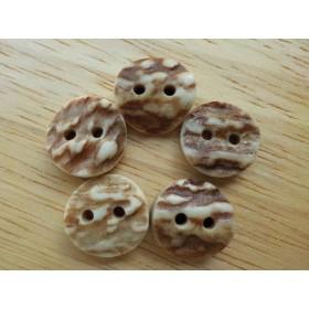 5個set シカ((鹿)の角のボタン 14mmサイズ