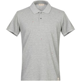《期間限定セール開催中!》SUPPLIER DOPPIA P メンズ ポロシャツ グレー S コットン 100%
