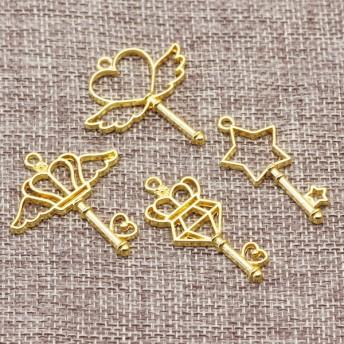 【g0437-2】魔法のスティックチャーム ゴールド 4種類12個セット