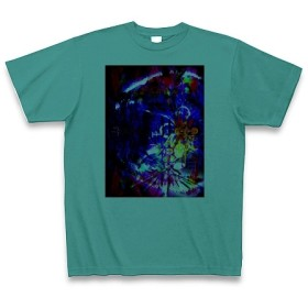 有効的異常症候群行動◆アート文字◆ロゴ◆ヘビーウェイト◆半袖◆Tシャツ◆ピーコックグリーン◆各サイズ選択可
