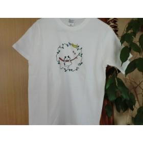 手書きネコちゃんTシャツ Sサイズ ユニセックス