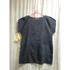 紺絣のチュニック 着物リメイク