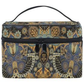 古代アート化粧品袋オーガナイザージッパー化粧バッグポーチトイレタリーケースガールレディース