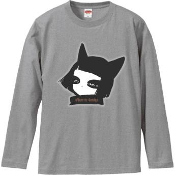 和姫ちゃんロングTシャツ ミックスグレー