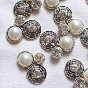 [6pieces] Import silver pearl No.123本文ご確認下さい!
