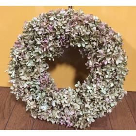 お花屋さんが作った秋色紫陽花リースNo.ノリウツギ