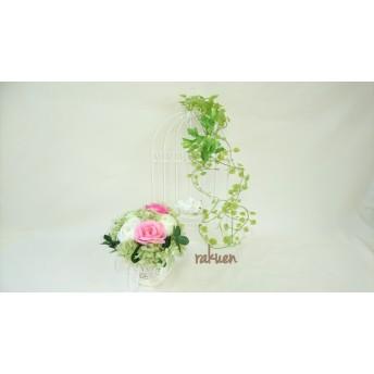 Sale¥2300→¥1800優しいグリーンのナチュラルフラワーアレンジメント