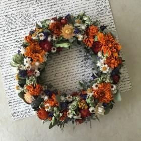 natural wreath マリーゴールド