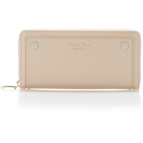 サマンサタバサプチチョイス シンプルボタンシリーズ(ラウンドジップ長財布) ベージュ