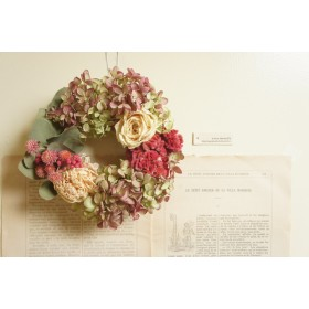 芍薬と薔薇のロマンティックリース