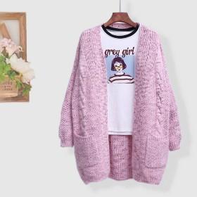 冬 ♪受注制作 手編み 大きいサイズ お洒落 ゆったり 着痩せ ニット ニットトップス
