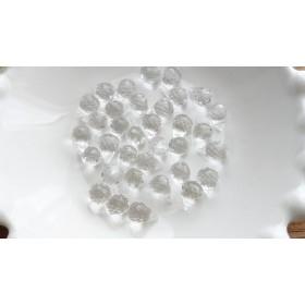 水晶ドロップカット2粒(14kgfワイヤーでチャーム加工有り)(300円以上の組み合わせでバラ売り可能*)
