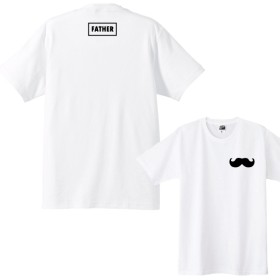 【送料無料】FATHERTシャツ+左胸ヒゲワンポイント Tシャツカラー全3色 各種サイズございます